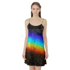 Rainbow Color Prism Colors Satin Night Slip