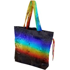 Rainbow Color Prism Colors Drawstring Tote Bag by Jojostore