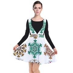 A Set Of 9 Nine Snowflakes On White Other Dresses