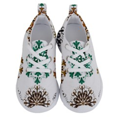 A Set Of 9 Nine Snowflakes On White Running Shoes by Jojostore