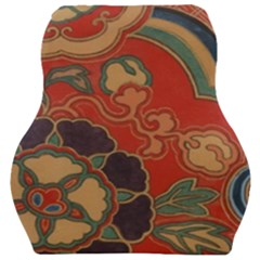 Vintage Chinese Brocade Car Seat Velour Cushion