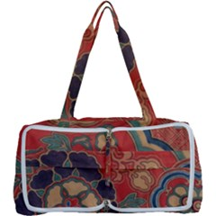 Vintage Chinese Brocade Multi Function Bag