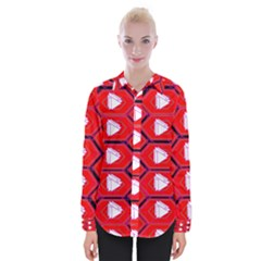 Red Bee Hive Womens Long Sleeve Shirt
