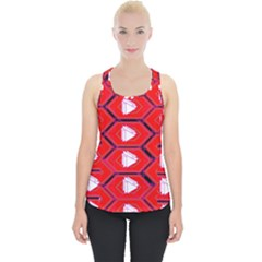 Red Bee Hive Piece Up Tank Top
