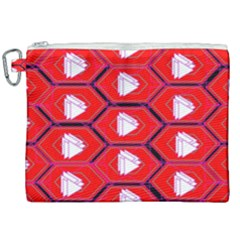Red Bee Hive Canvas Cosmetic Bag (xxl) by Jojostore