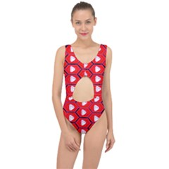 Red Bee Hive Center Cut Out Swimsuit