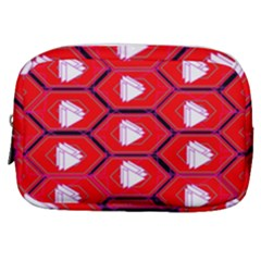 Red Bee Hive Make Up Pouch (small) by Jojostore