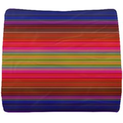 Fiesta Stripe Colorful Neon Background Seat Cushion by Jojostore