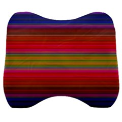 Fiesta Stripe Colorful Neon Background Velour Head Support Cushion by Jojostore