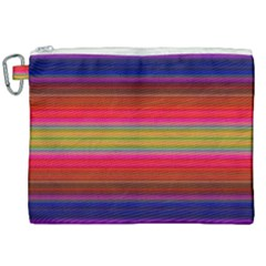 Fiesta Stripe Colorful Neon Background Canvas Cosmetic Bag (xxl) by Jojostore