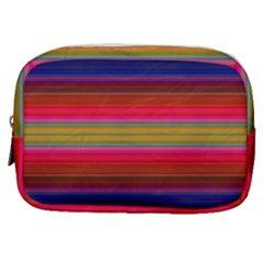 Fiesta Stripe Colorful Neon Background Make Up Pouch (small) by Jojostore