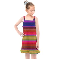 Fiesta Stripe Colorful Neon Background Kids  Overall Dress by Jojostore