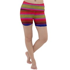 Fiesta Stripe Colorful Neon Background Lightweight Velour Yoga Shorts