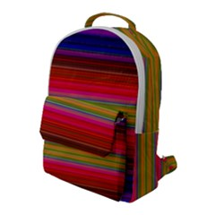 Fiesta Stripe Colorful Neon Background Flap Pocket Backpack (large)