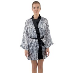 B/w Abstract Pattern 1 Long Sleeve Kimono Robe by JadehawksAnD