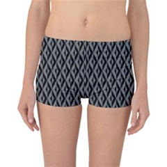 B/w Abstract Pattern 2 Reversible Boyleg Bikini Bottoms