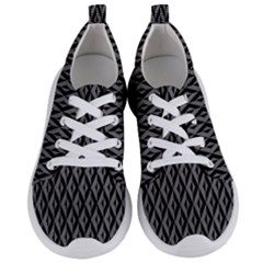 B/w Abstract Pattern 2 Women s Lightweight Sports Shoes