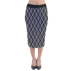 B/w Abstract Pattern 2 Velvet Midi Pencil Skirt