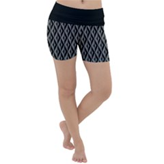 B/w Abstract Pattern 2 Lightweight Velour Yoga Shorts by JadehawksAnD