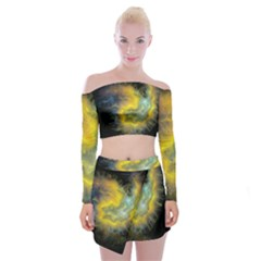 Shamanic Journeys 53 Off Shoulder Top With Mini Skirt Set