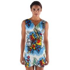 Seamless Repeating Tiling Tileable Wrap Front Bodycon Dress