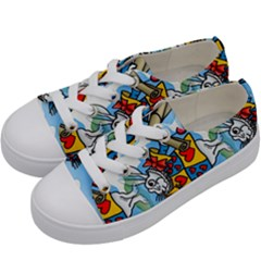 Seamless Repeating Tiling Tileable Kids  Low Top Canvas Sneakers by Jojostore