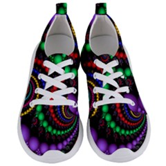 Fractal Background With High Quality Spiral Of Balls On Black Women s Lightweight Sports Shoes
