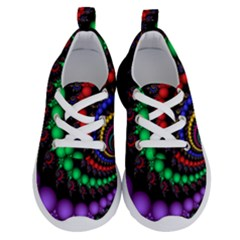 Fractal Background With High Quality Spiral Of Balls On Black Running Shoes