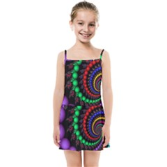 Fractal Background With High Quality Spiral Of Balls On Black Kids Summer Sun Dress