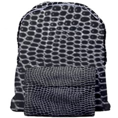 Black White Crocodile Background Giant Full Print Backpack