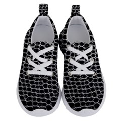 Black White Crocodile Background Running Shoes by Jojostore