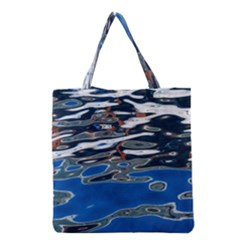 Colorful Reflections In Water Grocery Tote Bag