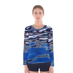 Colorful Reflections In Water Women s Long Sleeve Tee by Jojostore