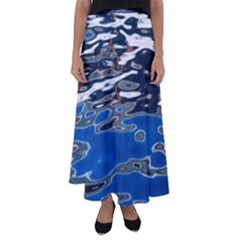 Colorful Reflections In Water Flared Maxi Skirt
