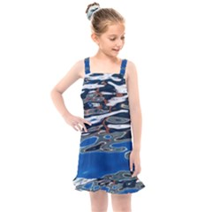 Colorful Reflections In Water Kids  Overall Dress