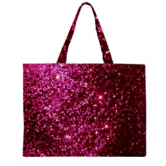Pink Glitter Zipper Mini Tote Bag