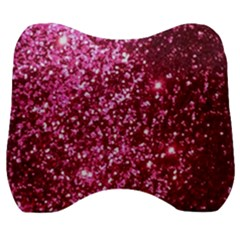 Pink Glitter Velour Head Support Cushion by Jojostore