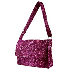 Pink Glitter Full Print Messenger Bag