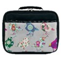 Birds Floral Pattern Wallpaper Lunch Bag View1