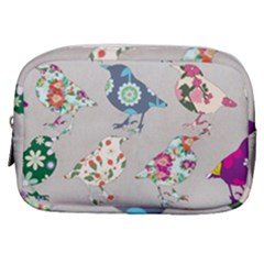 Birds Floral Pattern Wallpaper Make Up Pouch (small) by Jojostore