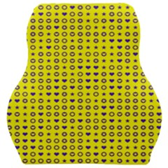 Heart Circle Star Seamless Pattern Car Seat Velour Cushion  by Jojostore