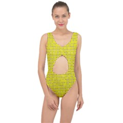 Heart Circle Star Seamless Pattern Center Cut Out Swimsuit