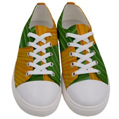 Pattern Colorful Palm Leaves Women s Low Top Canvas Sneakers