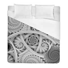 Fractal Wallpaper Black N White Chaos Duvet Cover (full/ Double Size)