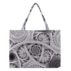 Fractal Wallpaper Black N White Chaos Medium Tote Bag