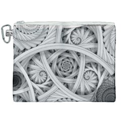 Fractal Wallpaper Black N White Chaos Canvas Cosmetic Bag (xxl) by Jojostore