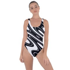 Black And White Wave Abstract Bring Sexy Back Swimsuit