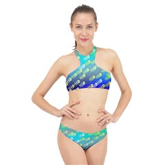 Animal Nature Cartoon Wild Wildlife Wild Life High Neck Bikini Set