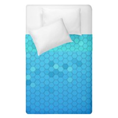 Blue Seamless Black Hexagon Pattern Duvet Cover Double Side (single Size)