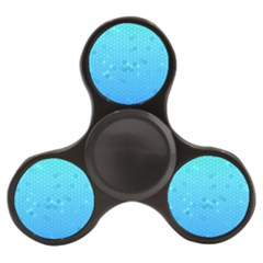 Blue Seamless Black Hexagon Pattern Finger Spinner by Jojostore